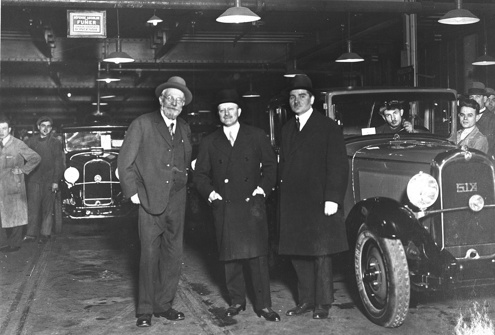 André Citroën, the Michelin brothers and a C6 in 1931